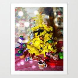 Happy Hufflepuff Christmas Art Print