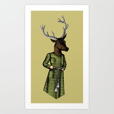 The Stately Stag Art Print
