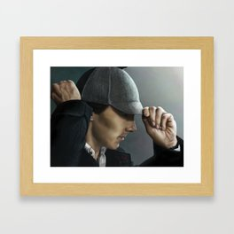 Sherlock and his deerstalker Framed Art Print