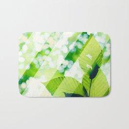 Leaves / Diagonal Stripes Bath Mat