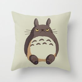 Grumpy T0toro Throw Pillow