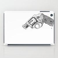gun iPad Cases featuring Gun by ToppArt