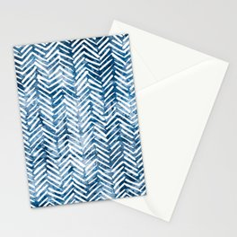 Boho Blue Shibori Tribal Pattern Stationery Cards