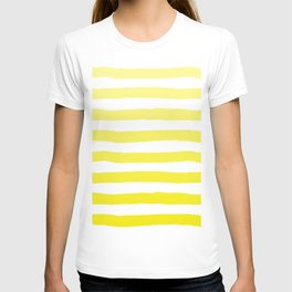 Sun Yellow Handdrawn horizontal Beach Stripes - Mix and Match with Simplicity of Life T-shirt