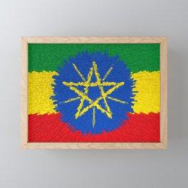 Flag of Ethiopia - Extruded Framed Mini Art Print