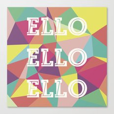 Happy Geometric Canvas Print