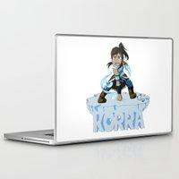 korra Laptop & iPad Skins featuring Korra by HelloTwinsies