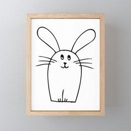 wonky bunny doodle Framed Mini Art Print