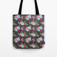 wwe Tote Bags featuring Flower Pattern by eARTh