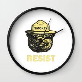 smokey resist Wall Clock
