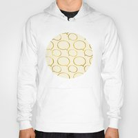 gold foil Hoodies featuring Cream Gold Foil 01 by Aloke Design
