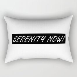 Seinfeld's George Costanza and SERENITY NOW! Rectangular Pillow