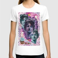 holographic T-shirts featuring Pink Adonis and the BB Burger Cat by STORMYMADE