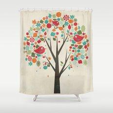 Home Birds Shower Curtain