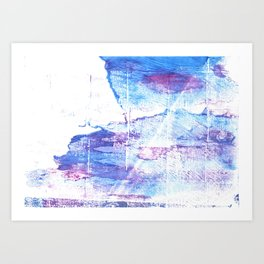 Blue white abstract Art Print