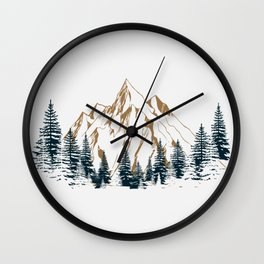 mountain # 4 Wall Clock