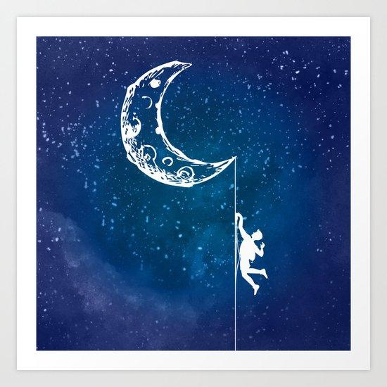 Moon Climbing Art Print