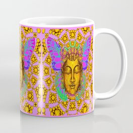 Noveau Butterfly Spirit In Pink-Gold-Purple Abstract Patterns Coffee Mug