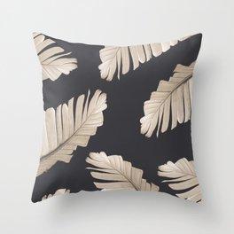 Sepia Banana Leaves Dream #2 #foliage #decor #art #society6 Throw Pillow