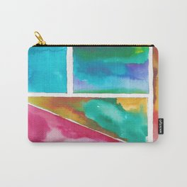 180811 Watercolor Block Swatches 11| Colorful Abstract |Geometrical Art Carry-All Pouch