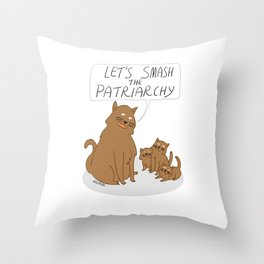 Let's Smash The Patriarchy Kittens Throw Pillow