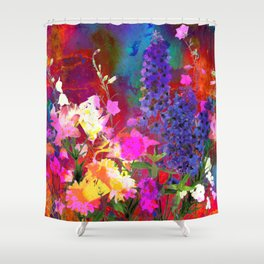Floral chaos Shower Curtain
