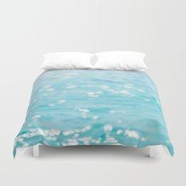 Rippling Sparkling Blue Ocean Photo Duvet Cover
