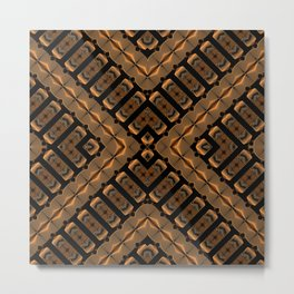 Abstract 355 a bronze tone geometric Metal Print