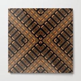 Abstract 355 a bronze tone geometric Metal Print
