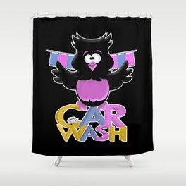 The Car Wash .. cartoon fun Shower Curtain