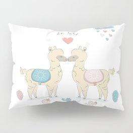 Llamas In Love Pillow Sham