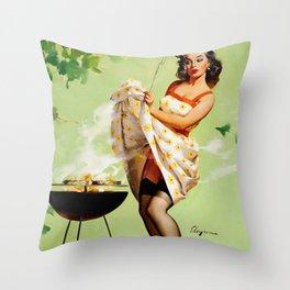 Smoky Hot BBQ  Throw Pillow