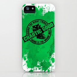 Chaotic Good RPG Game Alignment iPhone Case