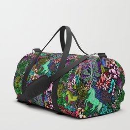 Magical Rainbow Unicorn Forest Duffle Bag