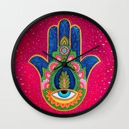 Fatima's hand / Hamsa Wall Clock