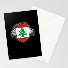 Lebanon Flag Proud Support Beirut Stationery Cards