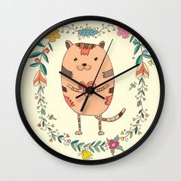 Cute lovely cat Wall Clock