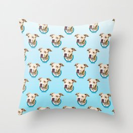 Pittie Print Throw Pillow