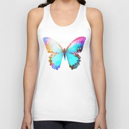 Turquoise Butterfly Unisex Tank Top