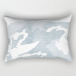 Chambray camo Rectangular Pillow