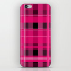 Shades of Pink and Black Plaid iPhone Skin
