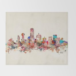 Dallas city texas Throw Blanket