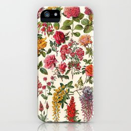 Vintage French Floral Print iPhone Case