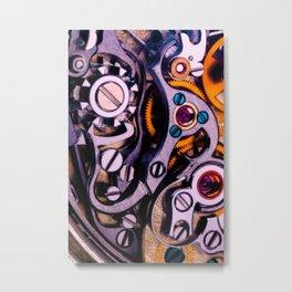 Time Machine In Color Metal Print