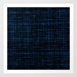 platno (black and blue) Art Print