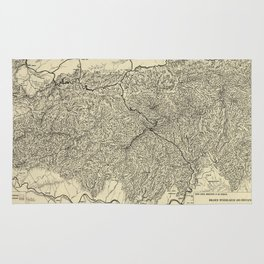 The Great Smoky Mountains National Park Map (1935) Rug