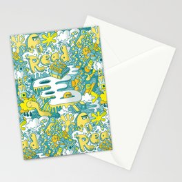 READ BOOKS LITTLE MONSTERS Stationery Cards