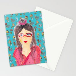 All Dressed Up With Blue Flowers Stationery Cards