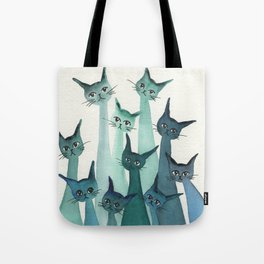 Knoxville Whimsical Cats Tote Bag