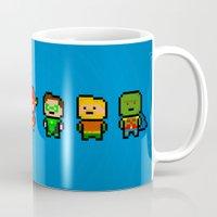 aquaman Mugs featuring JLA by CromMorc
